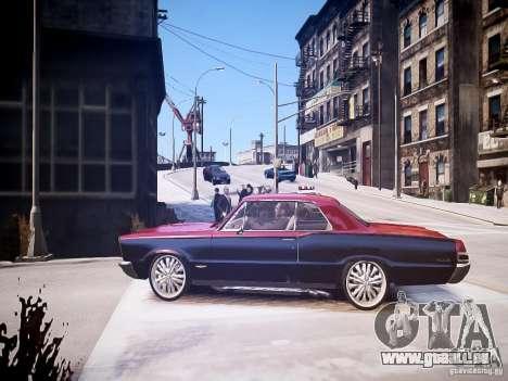 Pontiac GTO 1965 Custom discks pack 1 für GTA 4 linke Ansicht