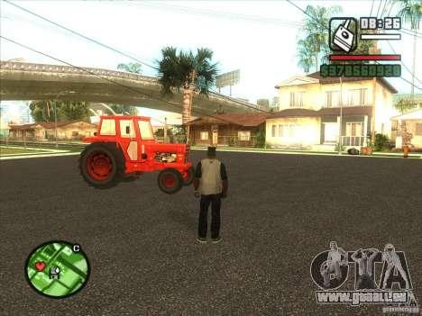 Tracteur pour GTA San Andreas sur la vue arrière gauche