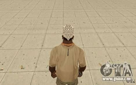 Bandana shamal pour GTA San Andreas troisième écran