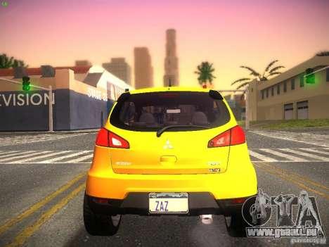 Mitsubishi Colt Rallyart pour GTA San Andreas vue de droite
