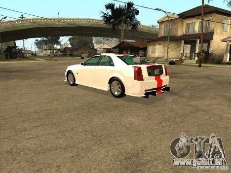 Cadillac CTS 2003 Tunable pour GTA San Andreas vue de dessous
