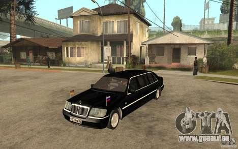 Mercedes-Benz S600 W140 1998 Pullman für GTA San Andreas