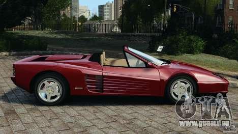 Ferrari Testarossa Spider custom v1.0 pour GTA 4 est une gauche