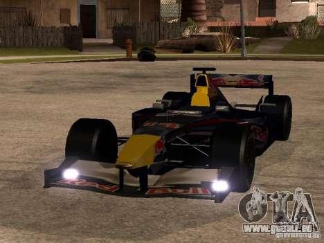 F1 Red Bull Sport für GTA San Andreas Rückansicht