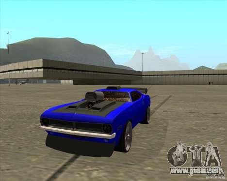 Plymouth Hemi Cuda de NFS Carbon pour GTA San Andreas vue de droite
