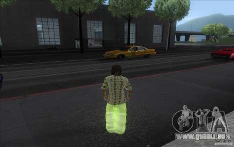 Rasta ped pour GTA San Andreas deuxième écran