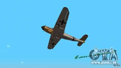 WW2 War Bomber für GTA Vice City Rückansicht
