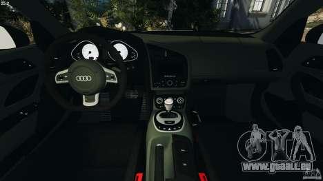 Audi R8 GT 2012 für GTA 4 Rückansicht