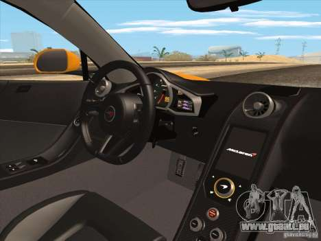 McLaren MP4-12C BETA pour GTA San Andreas vue de dessous