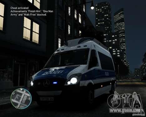 Mercedes Sprinter German Police für GTA 4