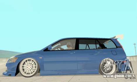Mitsubishi Lancer Evolution IX Wagon MR Drift für GTA San Andreas zurück linke Ansicht