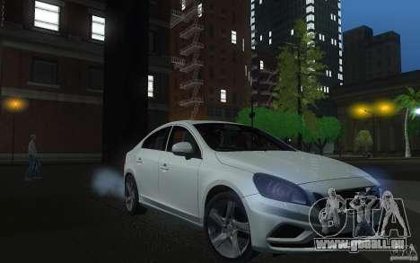 Volvo S60 2011 für GTA San Andreas Rückansicht
