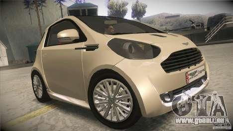 Aston Martin Cygnet 2010 V2.0 pour GTA San Andreas vue arrière