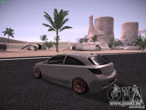 Vauxhall Astra VXR Tuned pour GTA San Andreas sur la vue arrière gauche