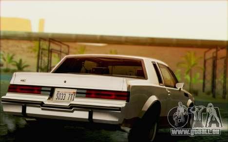 Buick GNX 1987 für GTA San Andreas Motor
