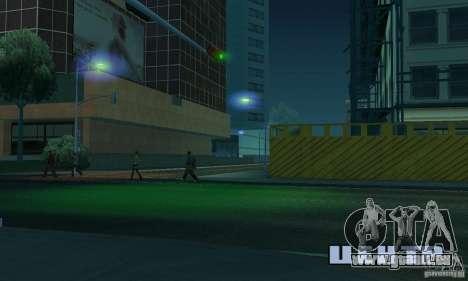 Blaue Scheinwerfer für GTA San Andreas her Screenshot