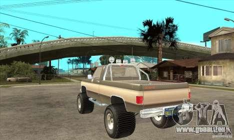 GMC Sierra Grande 1985 pour GTA San Andreas sur la vue arrière gauche