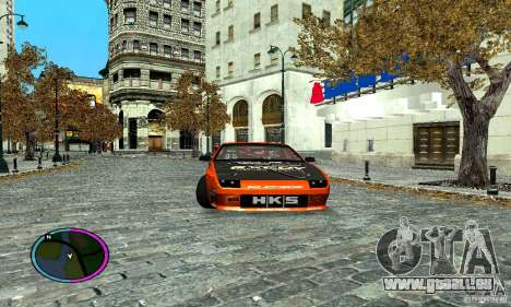 Mazda RX-7 FC for Drag pour GTA San Andreas sur la vue arrière gauche