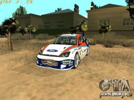 Ford Focus WRC 2002 für GTA San Andreas Rückansicht