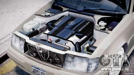 Mercedes-Benz W124 E500 1995 pour GTA 4 est une vue de l'intérieur