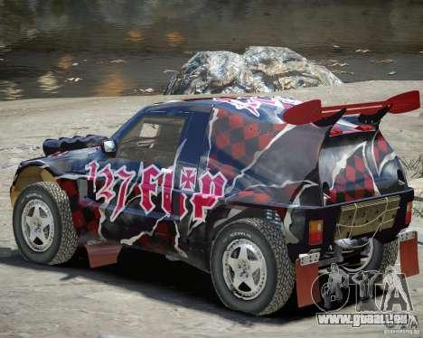 Mitsubishi Pajero Proto Dakar vinyle 3 pour GTA 4 Vue arrière