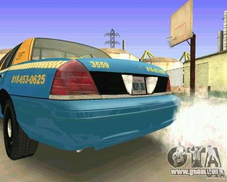 Ford Crown Victoria 2003 Taxi Cab pour GTA San Andreas vue de droite