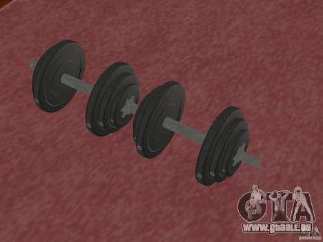 Neue freie Gewichte in der Turnhalle für GTA San Andreas zweiten Screenshot