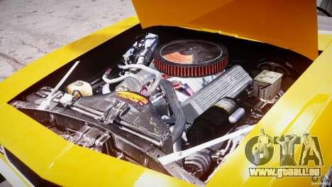 Chevrolet Camaro pour GTA 4 est une vue de l'intérieur