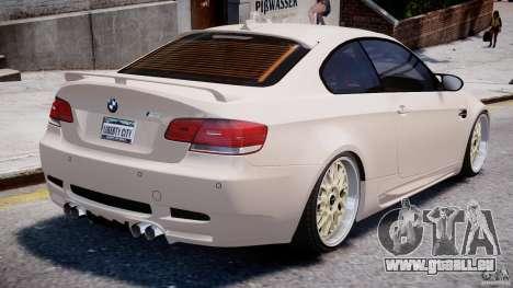 BMW M3 Hamann E92 pour GTA 4 est une vue de dessous