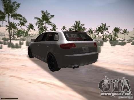 Audi RS3 2011 pour GTA San Andreas laissé vue