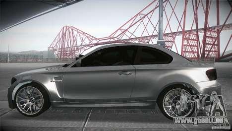 BMW 1M E82 Coupe 2011 V1.0 pour GTA San Andreas laissé vue