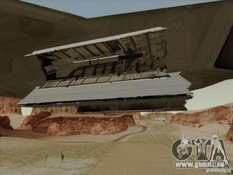 FA22 Raptor pour GTA San Andreas vue de dessus
