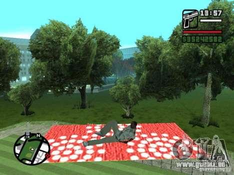 Fliegender Teppich für GTA San Andreas her Screenshot