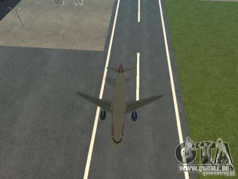 Airbus A320 British Airways pour GTA San Andreas vue de côté