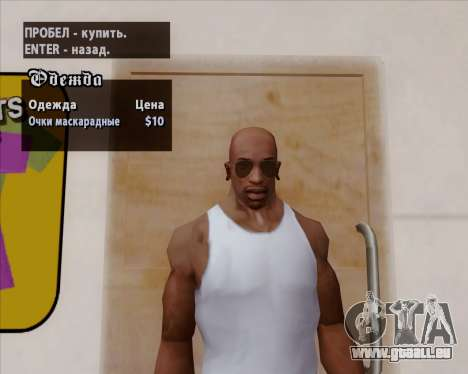Lunette verres bruns pour GTA San Andreas septième écran
