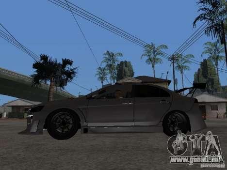 Mitsubishi Lancer Evolution X Drift Spec für GTA San Andreas linke Ansicht
