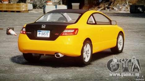 Honda Civic Si Coupe 2006 v1.0 für GTA 4 hinten links Ansicht