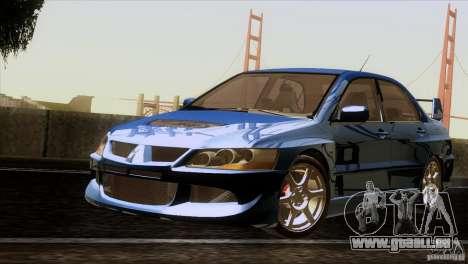 Mitsubishi Lancer Evolution IIIV pour GTA San Andreas laissé vue