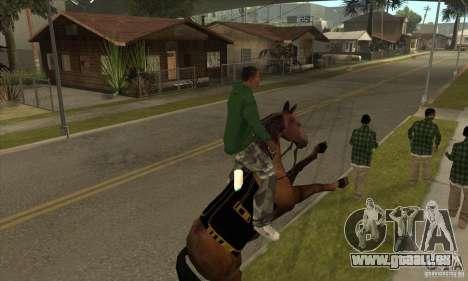 Cheval pour GTA San Andreas cinquième écran