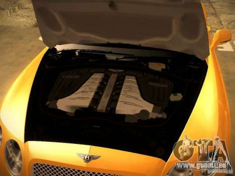 Bentley Continental GT 2011 für GTA San Andreas Rückansicht