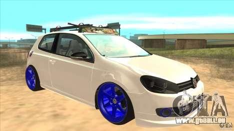 Volkswagen Golf MK6 Hybrid GTI JDM pour GTA San Andreas vue arrière