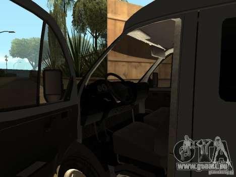 Business Gazelle 2705 pour GTA San Andreas vue intérieure