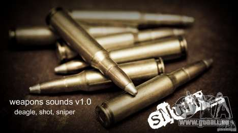 Weapons sounds v1.0 pour GTA San Andreas