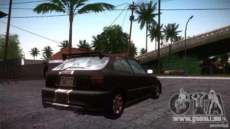 Honda Civic Tuneable pour GTA San Andreas vue de côté