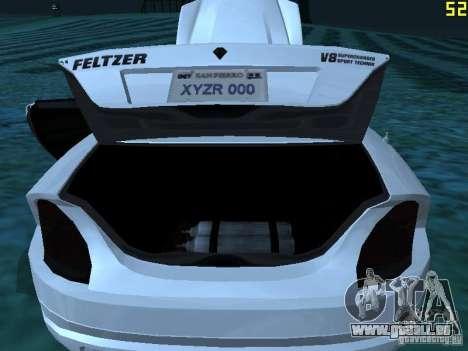 GTA IV Feltzer pour GTA San Andreas vue intérieure
