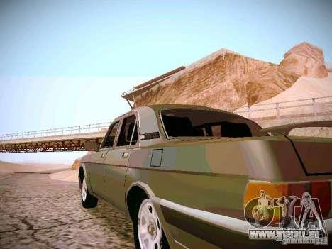 GAZ-31025 pour GTA San Andreas sur la vue arrière gauche