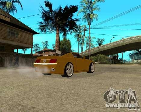 Ford Mustang GT 2005 Concept JVT LORD TUNING pour GTA San Andreas sur la vue arrière gauche