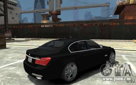 BMW 750i F01 v3 pour GTA 4 est un droit