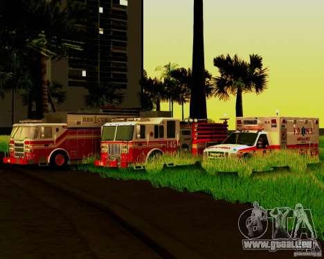Pumper Firetruck Pierce F.D.N.Y pour GTA San Andreas vue de dessus