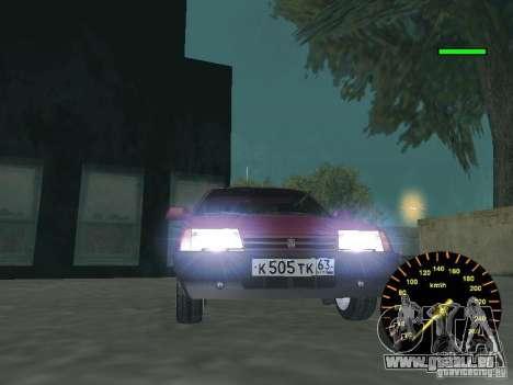 VAZ 2108 classique pour GTA San Andreas sur la vue arrière gauche